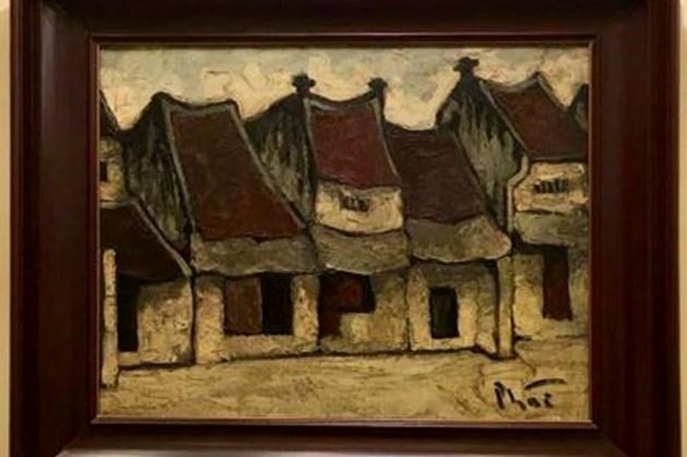 Bức tranh phố cổ Hà Nội nổi tiếng của họa sĩ Bùi Xuân Phái