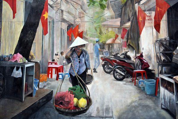 Tổng hợp những mẫu tranh phố Hà Nội xưa cho không gian nội thất